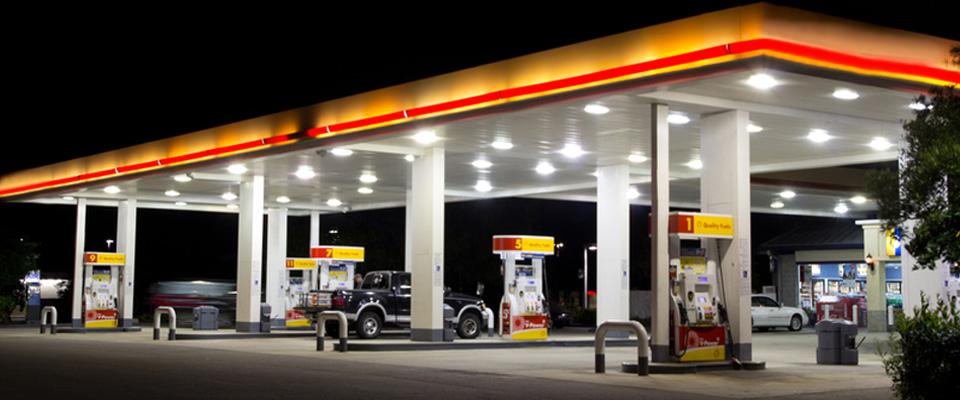 Iluminación en Gasolinerías